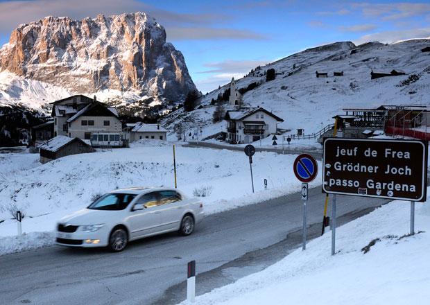 Autem na hory: Itálie - Gröden Seiser Alm