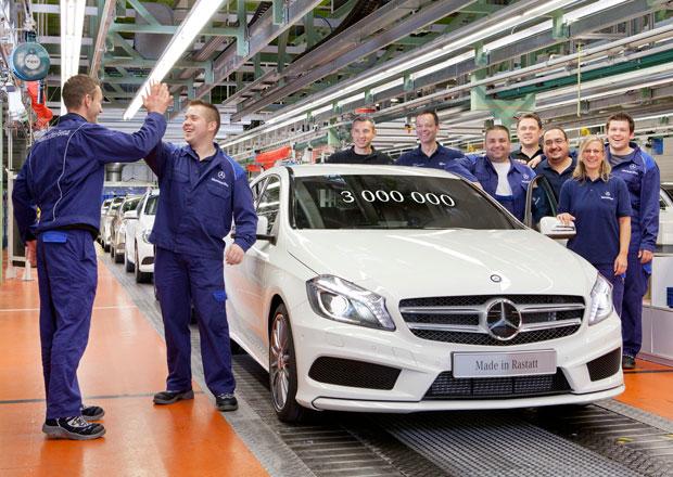Mercedes slaví 3 miliony prodaných kompaktů