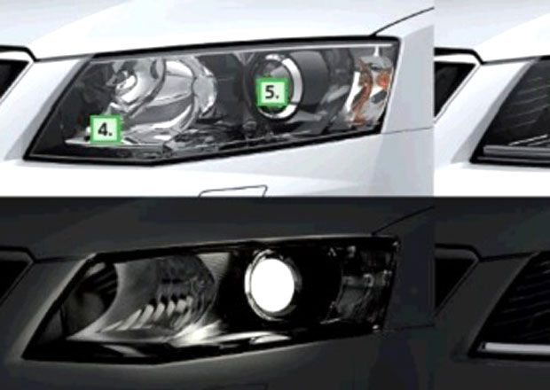 Škoda Octavia III ukazuje podobu a typy světel