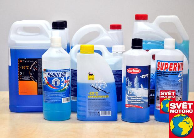 Velký test zimních směsí do ostřikovačů: Místo lihu metanol a přiboudlina