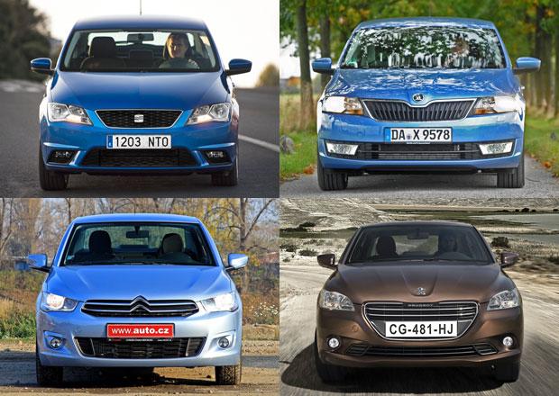 Škoda Rapid a SEAT Toledo vs Citroën C-Elysée a Peugeot 301: Který je lepší?