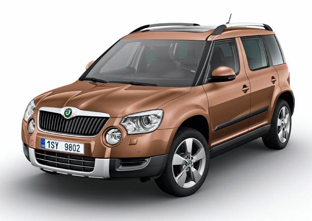 Škoda Yeti 1,4 TSI DSG stojí od 529 tisíc Kč