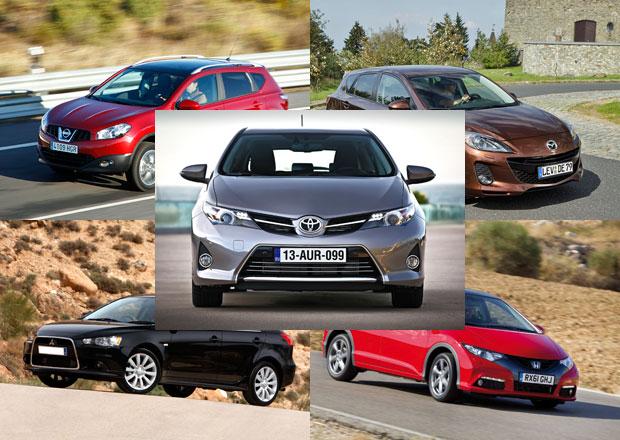 Toyota Auris vs. Honda, Mazda, Mitsubishi a Nissan: Co koupit?