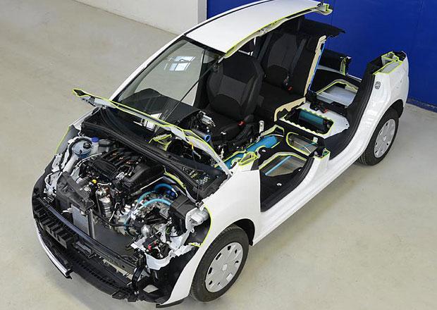 PSA Hybrid Air: M�sto baterek stla�en� vzduch