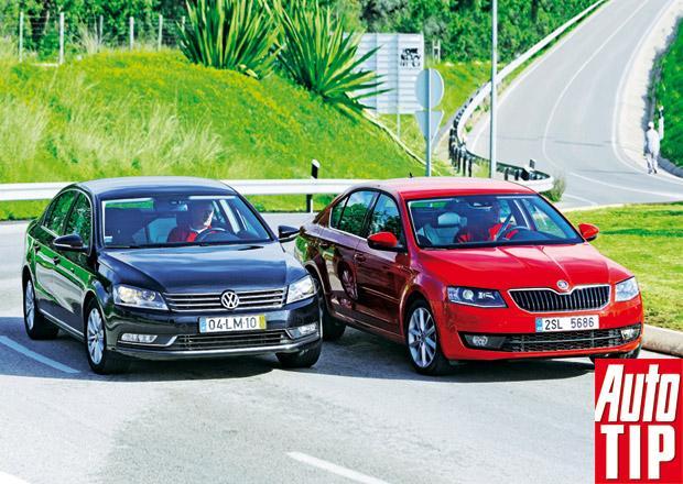 Škoda Octavia 1.6 TDI vs. Volkswagen Passat 1.6 TDI - Hořká pilulka