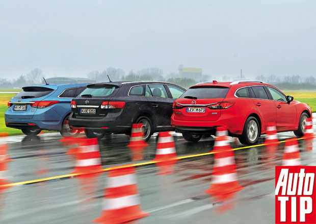 Mazda 6 Wagon vs. Ford Mondeo, Hyundai i40, Opel Insignia, Renault Laguna a Toyota Avensis