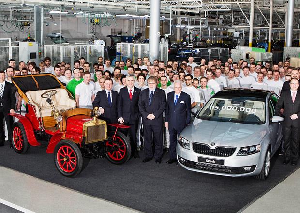 Škoda vyrobila už 15 milionů aut