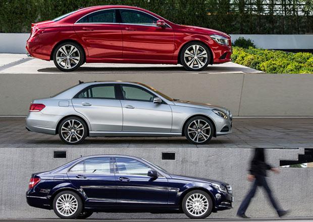 Mercedes CLA, C a E: Tři sedany za stejnou cenu?