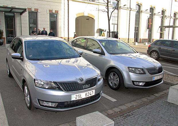 Škoda Octavia a Rapid na první společné fotce