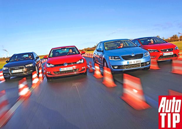 �koda Octavia III vs. Audi A3 Sportback, Seat Leon a Volkswagen Golf - Bratrovra�edn� boj
