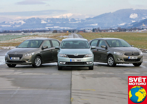 Škoda Rapid vs. Citroën C-Elysée vs. Peugeot 301