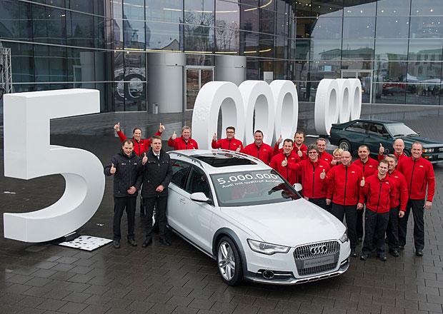 Systém quattro pohání už 5 milionů Audi