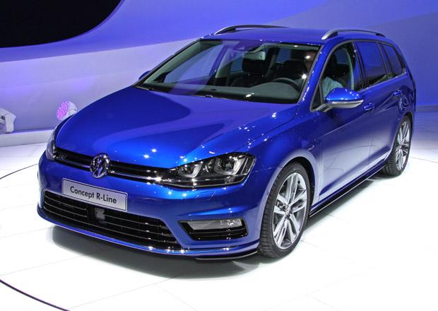 Volkswagen Golf Variant Concept R-Line: Optická sportovnost i pro praktickou karoserii