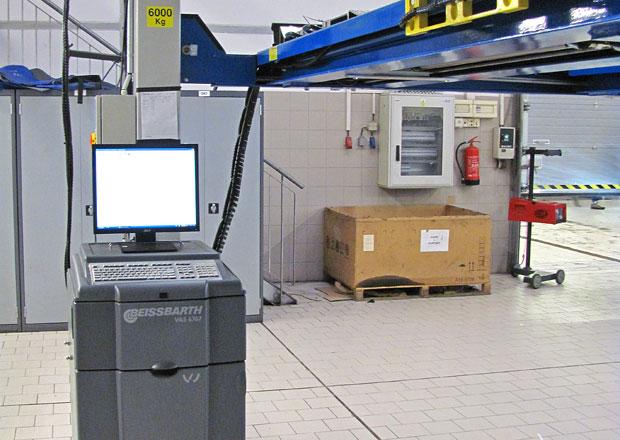 Měření a seřizování geometrie kol a náprav: Beissbarth pro Volkswagen