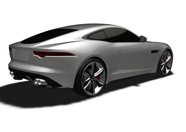 Jaguar F-Type Coupé v dokumentaci pro patentový úřad