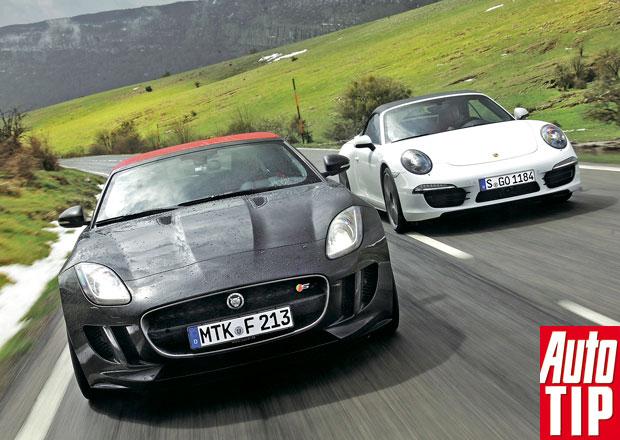 Jaguar F-Type vs. Porsche 911 Cabrio: N�vrat se v�� par�dou