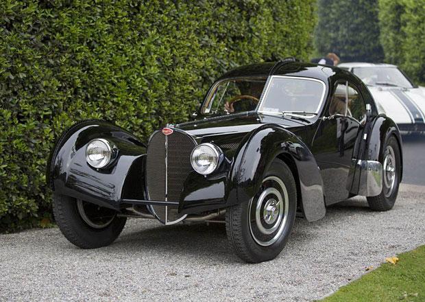 Bugatti 57 SC Atlantic Ralpha Laurena hvězdou 2013 Concorso d'Eleganza Villa d'Este