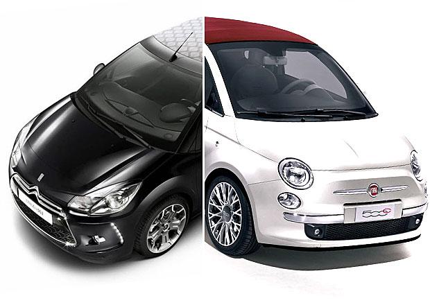 Citroën DS3 Cabrio vs Fiat 500C: Designový duel