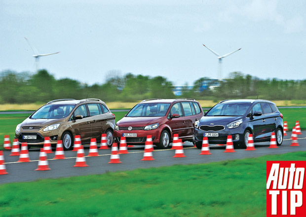 Ford Grand C-Max 1.0 vs. Kia Carens 1.6 GDI vs. VW Touran 1.4 TSI