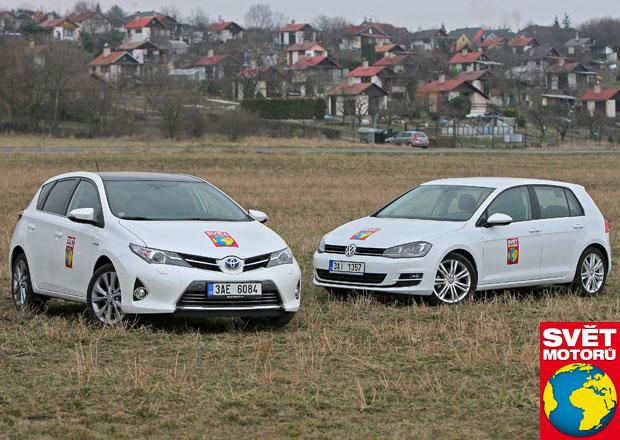 Toyota Auris Hybrid vs. VW Golf 1.4 TSI BMT ACT - Test spotřeby