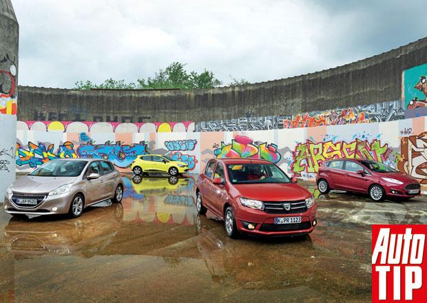 Dacia Sandero 0.9 TCe vs. Ford Fiesta, Peugeot 208 a Renault Clio
