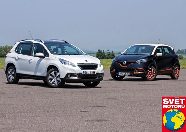 Peugeot 2008 1.6 e-HDI vs. Renault Captur 1.5 dCi - Dívčí úhel pohledu