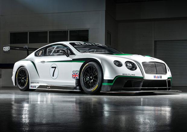 Bentley Continental GT3 má 600 koní a 1300 kg