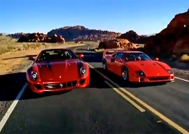 Reklamy, které stojí za to: Ferrari 599 GTB Fiorano proti Ferrari F40