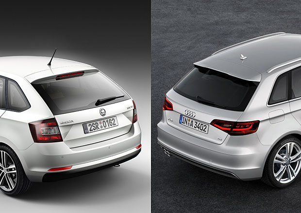 Škoda Rapid Spaceback vs. Audi A3 Sportback: Designový duel