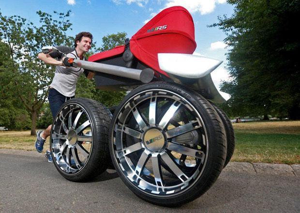 Stylový kočárek RS má větší kola než Octavia RS