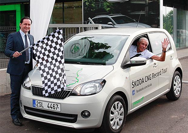 Plynová Škoda Citigo CNG chce v rámci rekordu ujet přes 2700 km