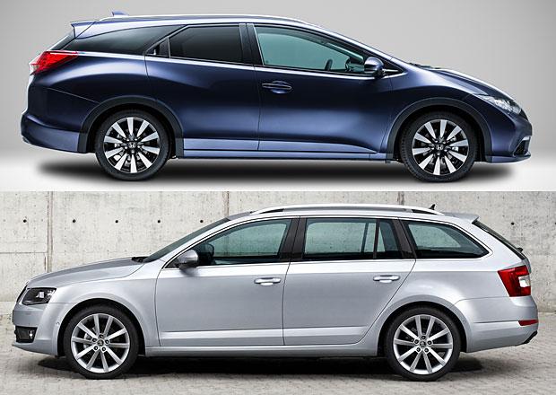 Největší kufr mezi kombi? Honda Civic uveze více než Škoda Octavia!
