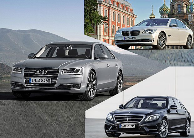 Audi A8 vs. BMW 7 vs. Mercedes-Benz S: Designový trojboj
