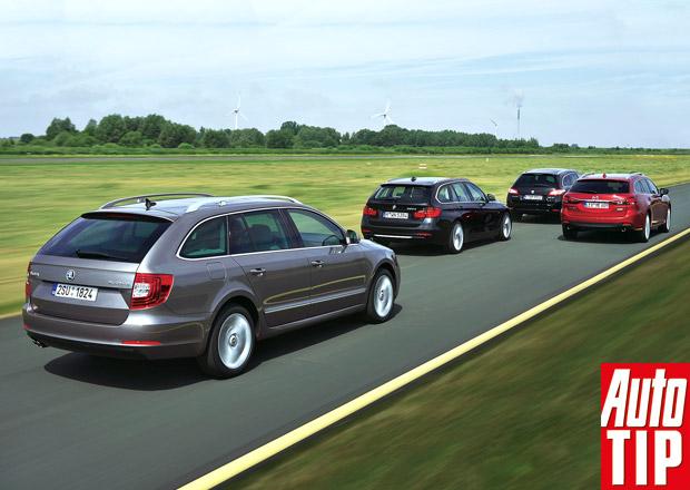 BMW 320d Touring vs. Mazda 6 Wagon vs. Peugeot 508 SW vs. Škoda Superb Combi