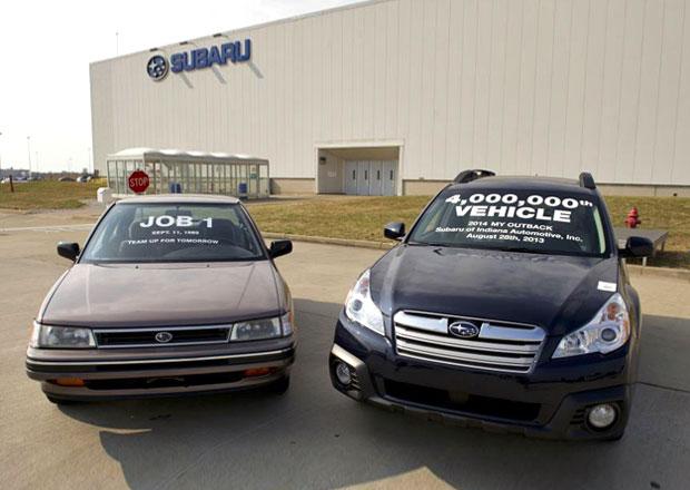 Subaru už v Indianě vyrobilo čtyři miliony vozů