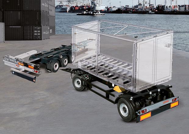 Podvozky pro kontejnery a výměnné nástavby: Kögel