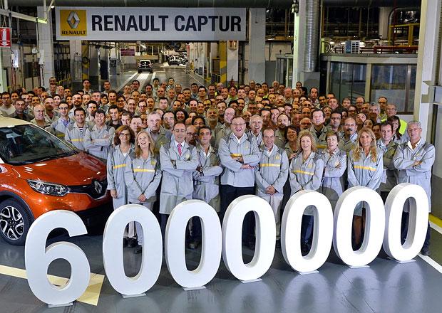 Renault ve španělské továrně Valladolid vyrobil 6 milionů aut