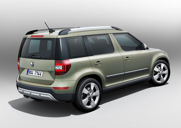 Modernizovaná Škoda Yeti od 339.900 Kč: Proti předchůdci o deset tisíc levnější