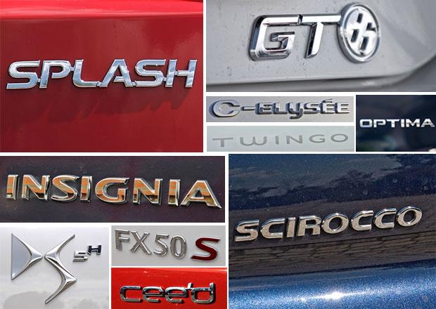 Kolik různých jmen aut existuje? Okolo 800.000