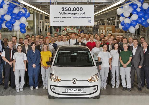 Volkswagen vyrobil 250.000 kusů Up!, za pouhé dva roky