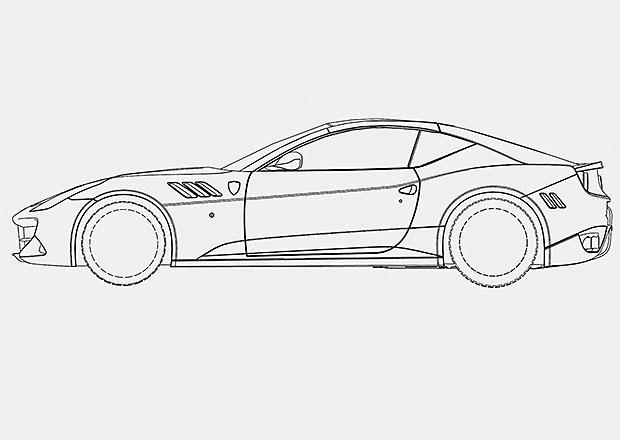 Nástupce Ferrari California odhalen díky patentovým nákresům