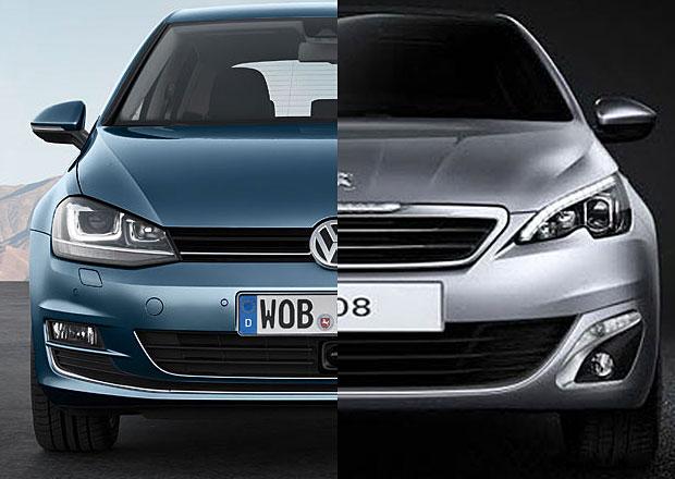Designový duel: Peugeot 308 vs. Volkswagen Golf