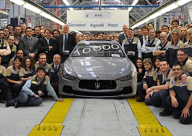 Maserati v tov�rn� Grugliasco letos ji� vyrobilo 10.000 aut