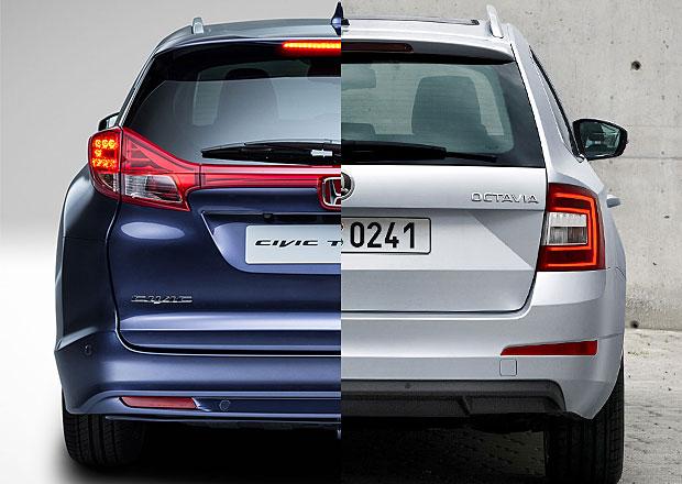 Designový duel: Honda Civic Tourer vs. Škoda Octavia Combi