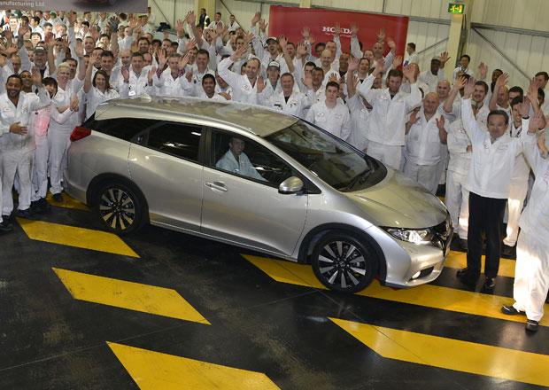Honda spustila výrobu Civicu Tourer, k nám dorazí v březnu
