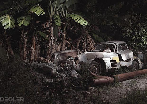 Fotograf našel na Kubě starý Mercedes Gullwing za miliony dolarů