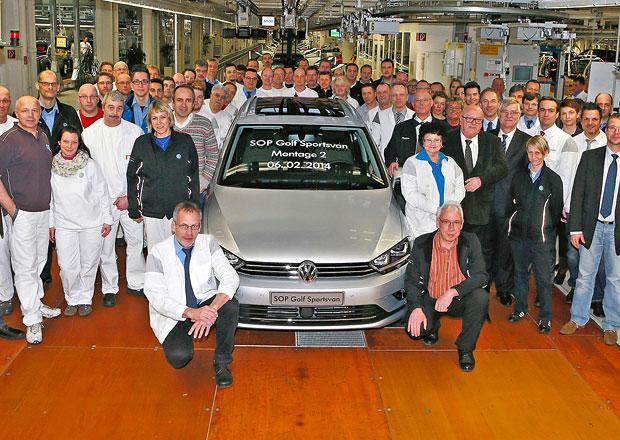 Volkswagen zahájil sériovou výrobu Golfu Sportsvan