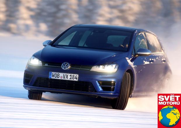 Volkswagen Golf R: J�zda bokem p�ik�z�na