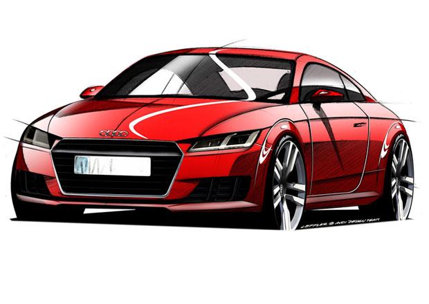 Audi TT 2015 na prvn�ch ofici�ln�ch skic�ch