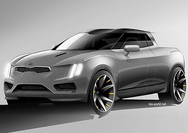 Kia ukazuje skicu stylového pick-upu. Chystá takový vůz?